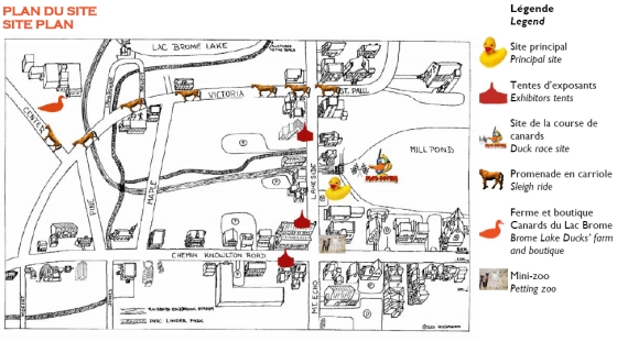 Brome Lake Duck Festival Map