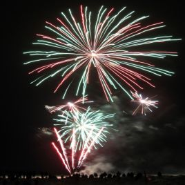 The fireworks were an amazing finale for the event!