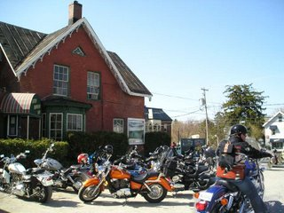 Noisy Bikers stir up dust and blood pressure in pub parking lot