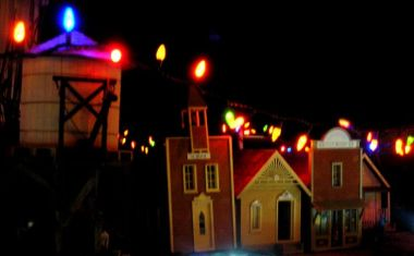 The bright lights on the miniature village in central Knowlton is one of the most photographed local attractions.
