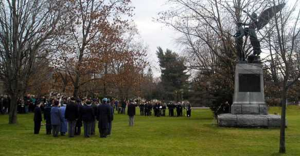 Remembrance day in Lac Brome.