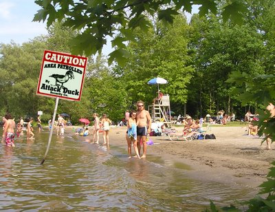 Hopefully Brome Lake will remain open for swimming throughout the year. It's too early to tell but we have to hope!
