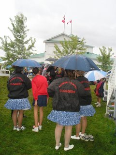 The Cloggers and Square Dancers made it clear that no foul weather would spoil the show!