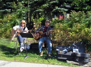 Local musicians playing folk to classical are on many corners during the Duck Festival. From James Brown to Chopin can be heard throughout the village.