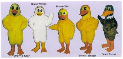 Brome Lake residents will have to choose from these duck costumes and will be forced to wear them whenever they are in public!