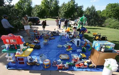 Whoa! Why did you even buy that stuff in the first place! Garage sales show how many bad choices make when they go to Canadian Tire!
