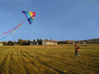 While most of Canada suffered a deepfreeze people in Knowlton we're trying to fly kites in another record breaking warm weekend. If you can believe it this picture was taken on November 26th!