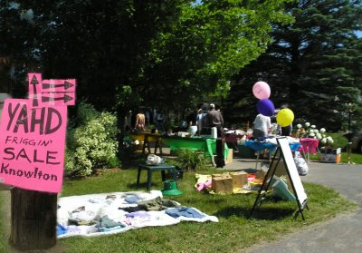 This kind of stuff has got to stop! Many garage sales and the signage looks more like a junk sale!